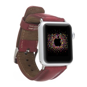 Bouletta Apple Watch Deri Kordon 42-44mm V4EF Kırmızı