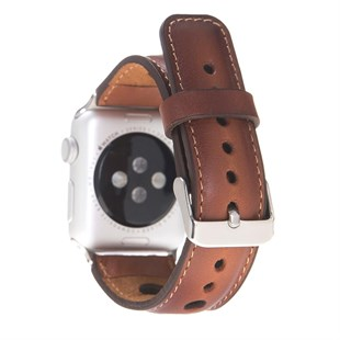 Bouletta Apple Watch Deri Kordon 42-44mm Çember RST2EF Taba