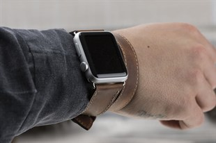 Bouletta Apple Watch Deri Çift Tur Kordon 42/44mm G2 A.Kahve