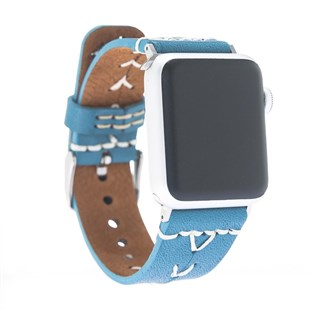 Bouletta Apple Watch Deri Dikişli Kordon 42/44mm-Brn4 Guess