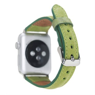 Bouletta Apple Watch Deri Kordon 38-40mm İnce G16 Yeşil