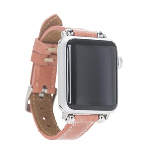 Bouletta Apple Watch Deri Kordon 38-40mm İnce G17 Mercan