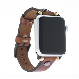 Bouletta Apple Watch Deri İnce Troklu Kordon 38/40/42/44mm-Rst2Ef