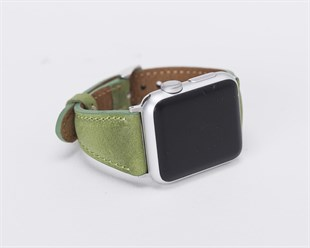 Bouletta Apple Watch Deri Kordon 38/42/40/44mm-Yeşil