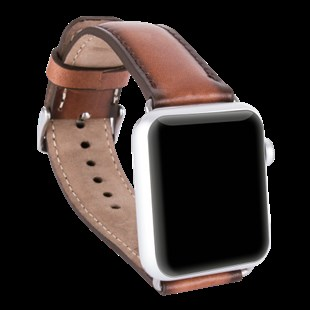 Bouletta Apple Watch Deri Kordon 38-40mm Efektli Kahve