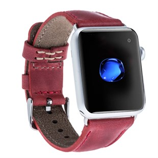 Bouletta Apple Watch Deri Kordon 42-44mm CZ04 Kırmızı