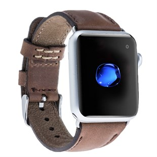 Bouletta Apple Watch Deri Kordon 42-44mm CZ06 Kahve