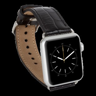 Bouletta Apple Watch Deri Kordon 38-40mm Kroko Siyah