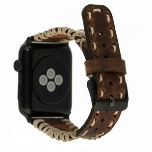 Bouletta Apple Watch Deri Kordon 42-44mm Saraç G2