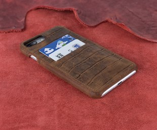 Bouletta Full Cover-CC Deri Telefon Kılıfı iPhone 7-8 Plus D2 Kahve