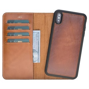 Bouletta Magic Wallet Deri telefon Kılıfı-iPhone XS Max-RST2EF Efektli Taba