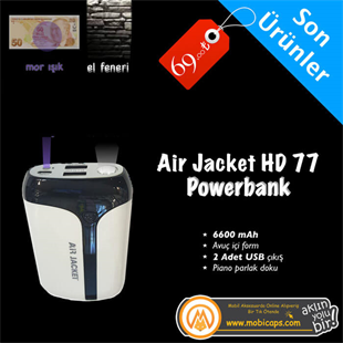 Airjacket HD 77 6600 mah Powerbank